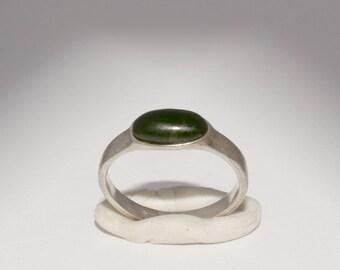 Antique Folk Art Jade Ring