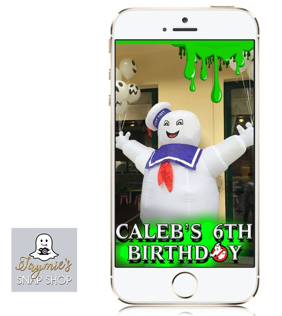 Ghostbusters Themed Snap Chat Filter - Customize!