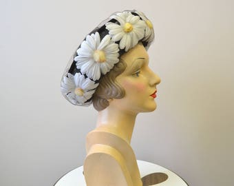 1960s Daisy and Tulle Hat