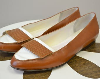 1960s Bass Two-Tone Loafers