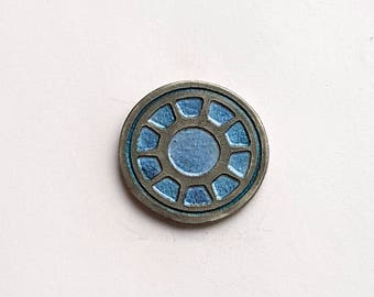Hand Cast Arc Reactor in. Lapel Pin
