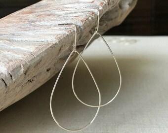 Large Sterling Silver Hoop Earrings, Silver Hoop Earrings, Large Hoop Earrings, Sterling Silver Hoop Earrings, Large Silver Hoop Earrings