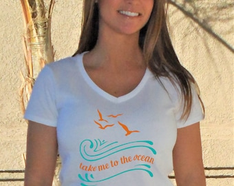 Take Me To The Ocean V-Neck Shirt