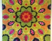 Tie Dye Tapestry, Boho wall hanging, lotus yoga design, dream catcher, boho dreamcatcher, student dorm art, Tapestry trippy, tie dye wall