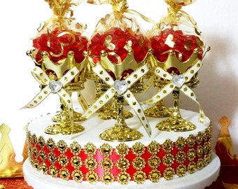 12 NEW Crown Favor Cups For Prince Baby Shower / Perfect For A Boys RED And