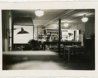 "Vintage Photo ""Late Night at the Office"" Snapshot Found Job Occupational Working Work Man Sitting Desk Interior Lab Old Photograph - 41"