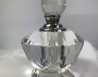 Perfume bottle clear glass small