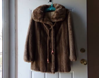 Tissavel Faux Fur - Ranch Mink Coat, Designer, French Imported Fabric, Career Originals, Fun Fur, Made in USA, Outerwear, Gift Idea:  CA-102
