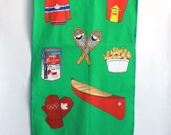 Canadian Tea Towel: Forest Green Cotton Linnen -Kitchen towel -Dishcloth