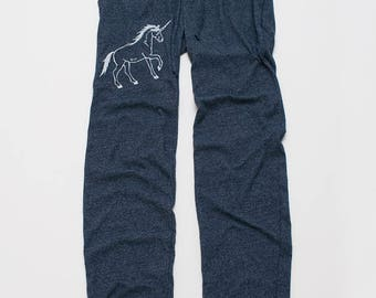 Just a Dreamer Unicorn Pants, Lounge Pants, Comfy Pants, XS,S,M,L