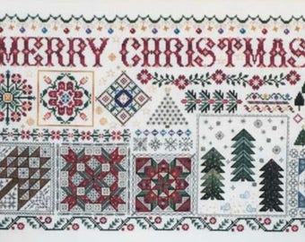 NEW! ROSEWOOD MANOR Christmas Quilts counted cross stitch patterns at thecottageneedle.com 2018 Nashville Market