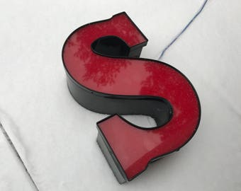 s - Reclaimed channel letter - 12 inch