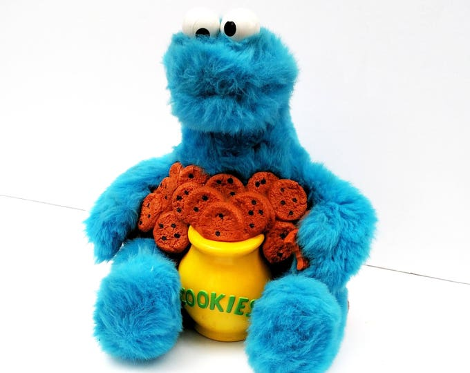 Vintage 1987 Story Magic Cookie Monster by Ideal