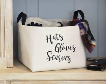 SALE! Hats Gloves Scarves Storage Basket