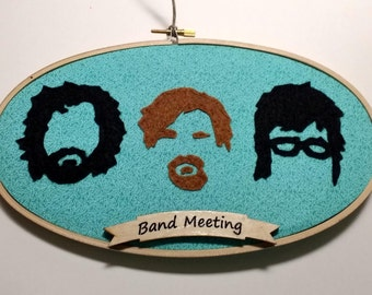 Flight of the Conchords Embroidery Hoop Wall Art Large