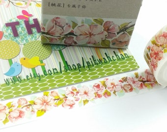 Cherry Blossom Flower Washi Tape (15mm X 7M)