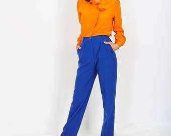 70s Colbolt Tapered High Waisted Trousers