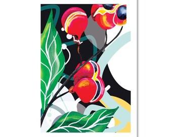 BOTANICAL ONE Watercolour print- A3 ( 11.7 x 16.5 inches)