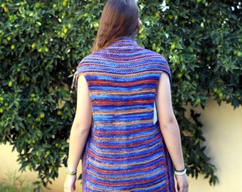 Knit Vest Pattern Woman's Vest Pattern knit Vest shrug pattern pdf