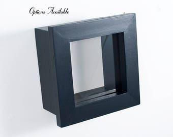 6x6 Shadow Box - Custom Color - Mini Shadow Box, DEEP Shadow Box, Display Frame, Figurine Display, Miniature Display