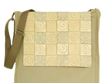 Laptop Bag, Canvas Handbag, Messenger Bag, Cross Body Bag, Tablet Bag, Vegan Handbag