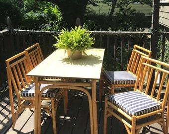 Bamboo/Rattan Dining Set, Bamboo Dining Set, Rattan Dining Set,