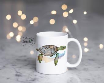 Turtle Coffee Mug, Cute Turtle Mug, Turtle Mug, Cute Turtle Gifts, Sea Turtle Mug, Cute Turtle Design, Sea Turtle Coffee Mug, Sea Turtles