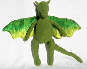 Baby Dragon Toy, Organic Stuffed Animal Doll, GOTS Certified Organic Cotton, Design Your Own!