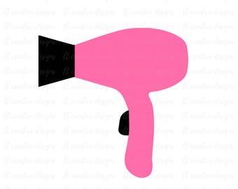 Hair Dryer SVG, Salon SVG, Stylist SVG, Hairdresser Svg, Cricut Cut Files, Silhouette Cut File