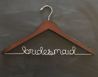 Bridesmaid Hanger, Personalized Hanger, Bridal Hanger, Mrs Hanger, Bridesmaid Gift, Bridesmaid Clothes Hanger, Bridesmaid Coat Hangers