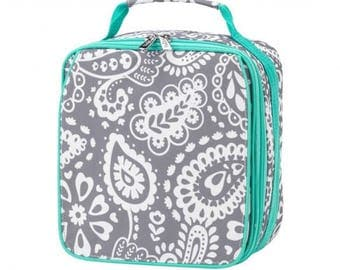 Parker Paisley Insulated Lunch Box * Monogrammed FREE * / Girls Lunch Box / Personalized Lunch Box / Back School Gear / FREE Personalization