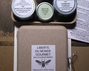 Gourmet Herb & Spice Sampler Set in Biodegradable Box