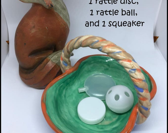 Noisemaker Sampler #2 // LARGE // disc/ball/squeaker // Baby // Cat Toys // Dog Toys // Noise Makers // Craft Supplies // Toy Making // Toys