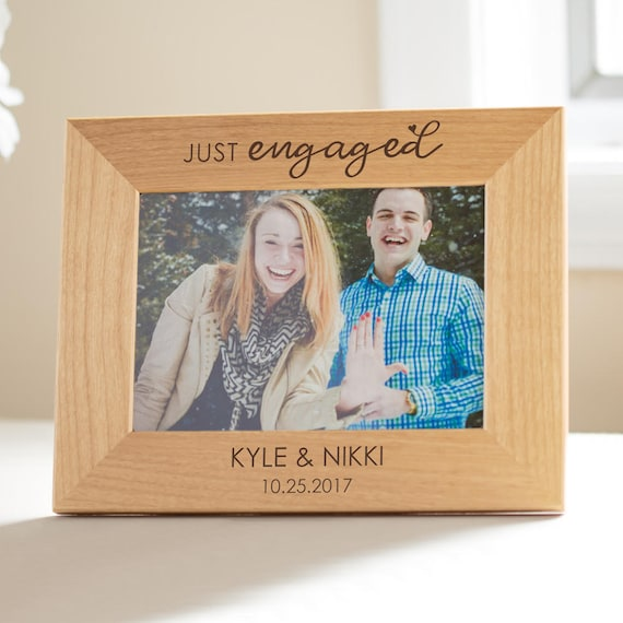 Personalized Engagement Picture Frame: Just Engaged Custom