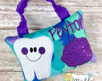 Girls Tooth Fairy Pillow, Personalized, Embroidered, Princess Tooth Fairy Pillow, Keepsake Tooth Fairy Pillow, Mermaid Tooth Fairy Pillow