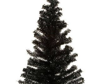 "24"" Black Canadian Pine Artificial Tree - 148 tips - Halloween decor"