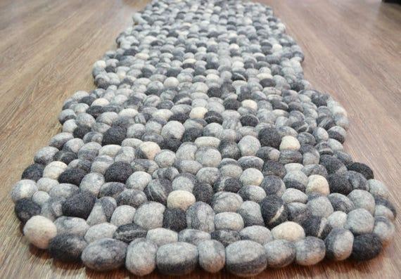 Felted Stone Rugs Stone Rugs Pebble Felt Rugs Felt Stone