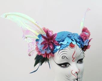 Iridescent Under da Sea Mermaid Fin Costume Headband
