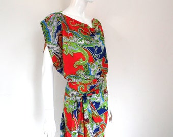 BURBO Paisley 'Sy-Anne' dress