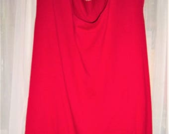 "Vtg Red Tank Top 64"" Bust"
