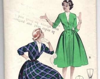 """1950's Butterick One-Piece Rockabilly Dress Pattern - Bust 31"""" - No. 6267"""