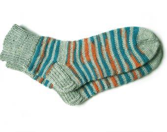 Hand knit socks for women, knit socks, wool socks women, size 7-9 US/38-40 EU