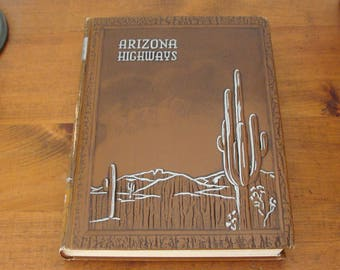 Complete 1952 Bound Arizona Highways, Beautiful Photos, Article on Jo Mora, Simulated Leather Cover