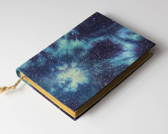 Cosmos, Galaxy,  handmade journal, notebook, diary, stars, old pages