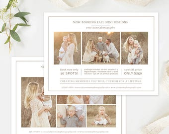 Mini Session Template, Photography Flyer Template, Photography Marketing Template Photoshop, Photography Branding & Forms Organic Set