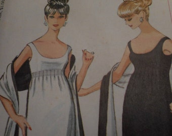 SALE Vintage 1960's McCall's 7521 Pauline Trigere Dress and Stole Sewing Pattern, Size 12 Bust 32