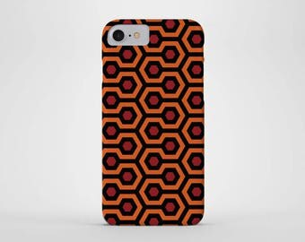 Overlook Hotel Phone Case - iPhone & Samsung Galaxy Cases - Overlook Hotel Carpet Pattern, Horror, Redrum, 80's, Movie - iPhone Case