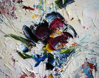 Red Rose Giclee PRINT of my Oil Painting, Wall Art, Canvas Art, Tatjana Ruzin, Floral Art, Canvas Artwork, Home Decor, Wall Decor, Art Gift