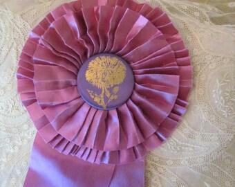 Vintage Purple Flower Show Ribbon,