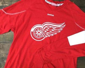 Reebok Red Wings Long Sleeved Tshirt